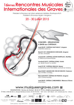 Rencontres musicales internationales des graves 2016
