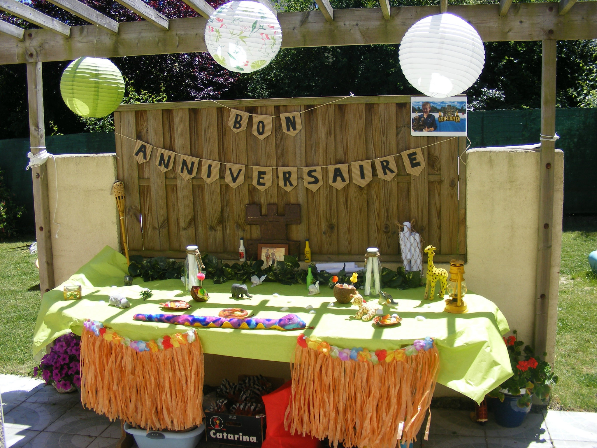 Koh lanta organisez un anniversaire enfant aventurier for Photo de decoration