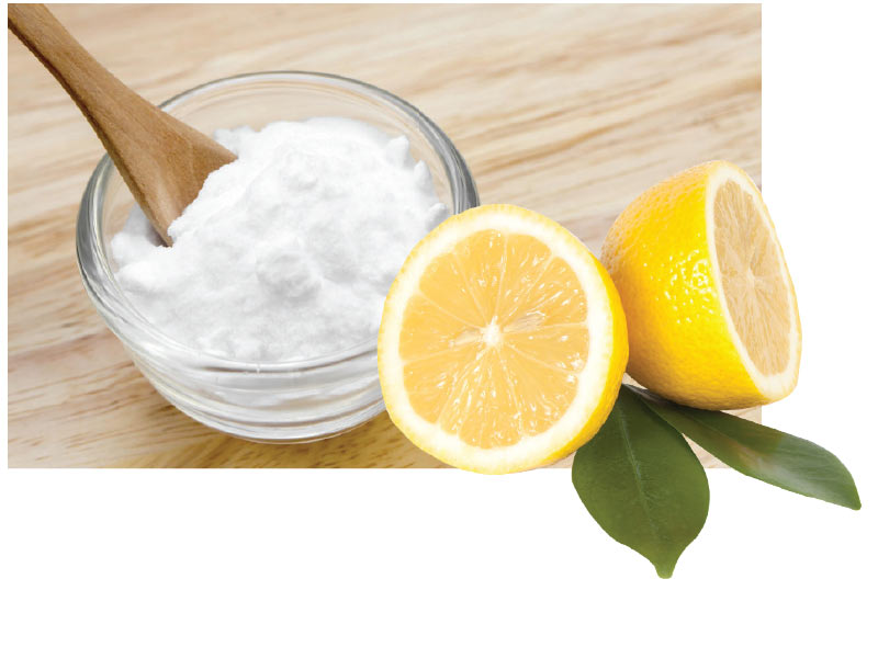 bicarbonate et citron dents blanches